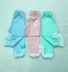 Combo 03 quần legging bé gái size nhỏ.