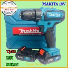 Máy Khoan Pin Makita 18V 2 Pin Đúc Nổi Lõi Đồng ( Tặng kèm mũi bắt vít)