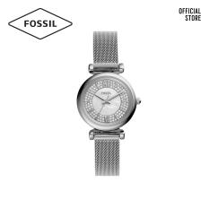 Đồng hồ nữ FOSSIL Carlie Mini dây thép không gỉ ES4837 – màu bạc
