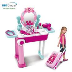 Đồ chơi trang điểm BBT Global vali kéo cho bé 008-923A làm từ nhựa nguyên sinh đã qua kiểm định an toàn tuyệt đối sản xuất theo tiêu chuẩn châu Âu