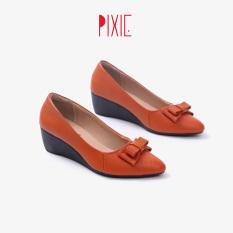 Giày Đế Xuồng 3cm Mũi Nhọn Gắn Nơ Pixie X619