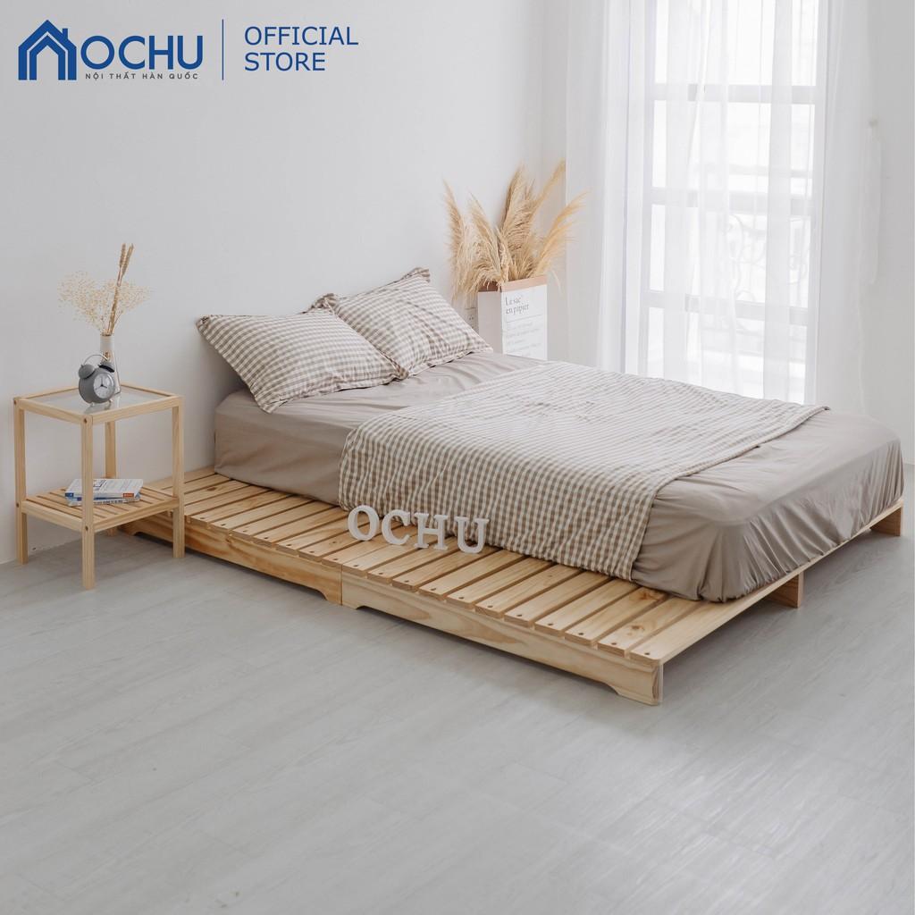 [Trả góp 0%] Giường Ngủ Pallet Gỗ Thông Ochu - Pallet Bed - Natural