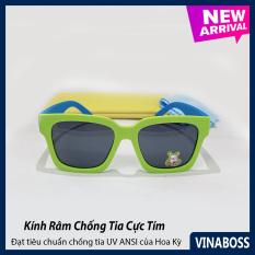 Kính mát cao cấp chống tia UV dành cho cả bé trai và bé gái siêu dễ thương VN1656 – Kính râm thời trang cho trẻ từ 1 tới 6 tuổi – Tặng kèm túi đựng + Khăn lau