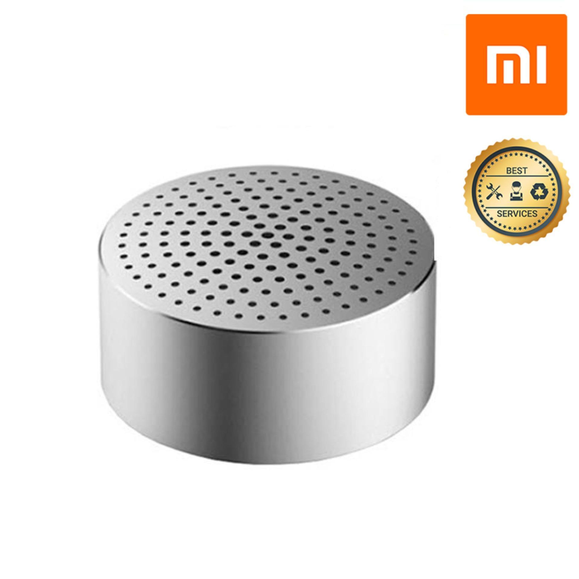 Loa nghe nhạc Bluetooth Xiaomi Mini công nghệ khử tạp âm CVC6.0 (Kim loại Bạc nguyên khối) Tích hợp Mic...