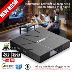 Box tivi android, tivi box, tv box xem phim 4k, bộ nhớ 16G, ram 2G, android 10.0 mới nhất, xem nhiều kênh truyền hình trong nước, bảo hành 12 tháng T95H