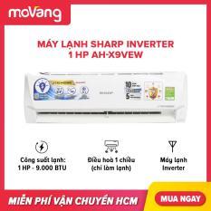 Máy lạnh Sharp Inverter 1 HP AH-X9VEW phạm vi làm lạnh dưới 15m2, công suất tiêu thụ 0.8 kW/h, công nghệ kháng khuẩn khử mùi
