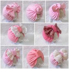 Nón/ mũ Turban loại đẹp nhiều màu cho bé (5-12kg) – 1 cái