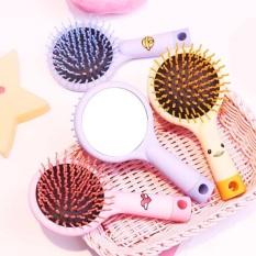 [LƯỢC KÈM GƯƠNG] Lược chải massage da đầu kèm gương, bàn chải cao cấp chống rụng tóc