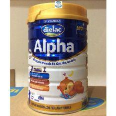 Sữa bột Dielac Alpha 1 Lon 900g – Dành cho bé 0-6 tháng – HSD luôn mới