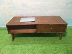 BCF – Bàn sofa hình hộp gỗ cao su có hộc kéo T619-5 KT120x50x43, bàn trà, bàn cafe, cà phê, coffee, bàn gỗ phòng khách