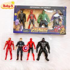 [HCM]Đồ chơi siêu anh hùng mô hình siêu nhân bằng nhựa cao cấp có khớp nối chuyển động và đèn phát sáng Baby-S – SDC045