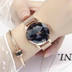 TAKOYA – Đồng hồ nữ Guou G1509 Mặt vát 3D dây nam châm đồng hồ nữ thời trang đồng hồ nữ đẹp độc TK-G1509 (màu vàng hồng)