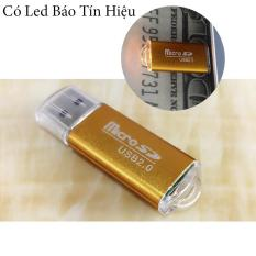 Đầu đọc thẻ nhớ Micro SD 2.0 Vỏ nhôm, Có Led Báo Tín Hiệu