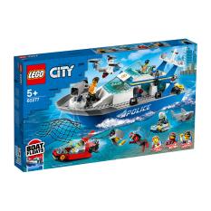 LEGO CITY 60277 Tàu Tuần Tra ( 276 Chi tiết) Bộ gạch đồ chơi lắp ráp cho trẻ em