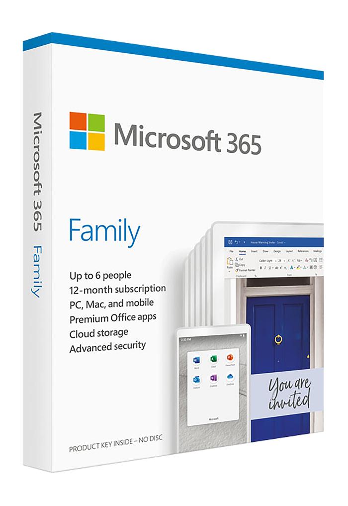 Phần mềm văn phòng Mirosoft Office 365 Family – Hàng chính hãng nguyên hộp nguyên seal