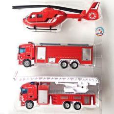 Đồ chơi set 3 chiếc xe sắt cứu hỏa siêu bền, siêu đẹp