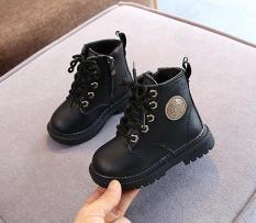 Giày da cao cổ cho bé gái bé trai trẻ em boot cổ thấp siêu đẹp