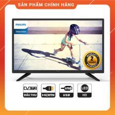 Tivi Led Philips 24 inch HD – Model 24PHT4003S/74 (Đen) Tích hợp DVB-T2