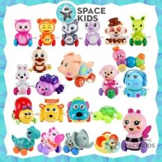 Đồ chơi cho bé vận động, đồ chơi vặn cót hình con vật dễ thương Space Kids, chất liệu nhựa ABS