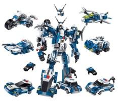 Bộ đồ chơi lắp ráp Chiến binh cuồng nộ 6in1 Qman. Kích thước lớn 30x22x10. Gồm 6 hộp nhỏ là 6 phương tiện chiến đấu