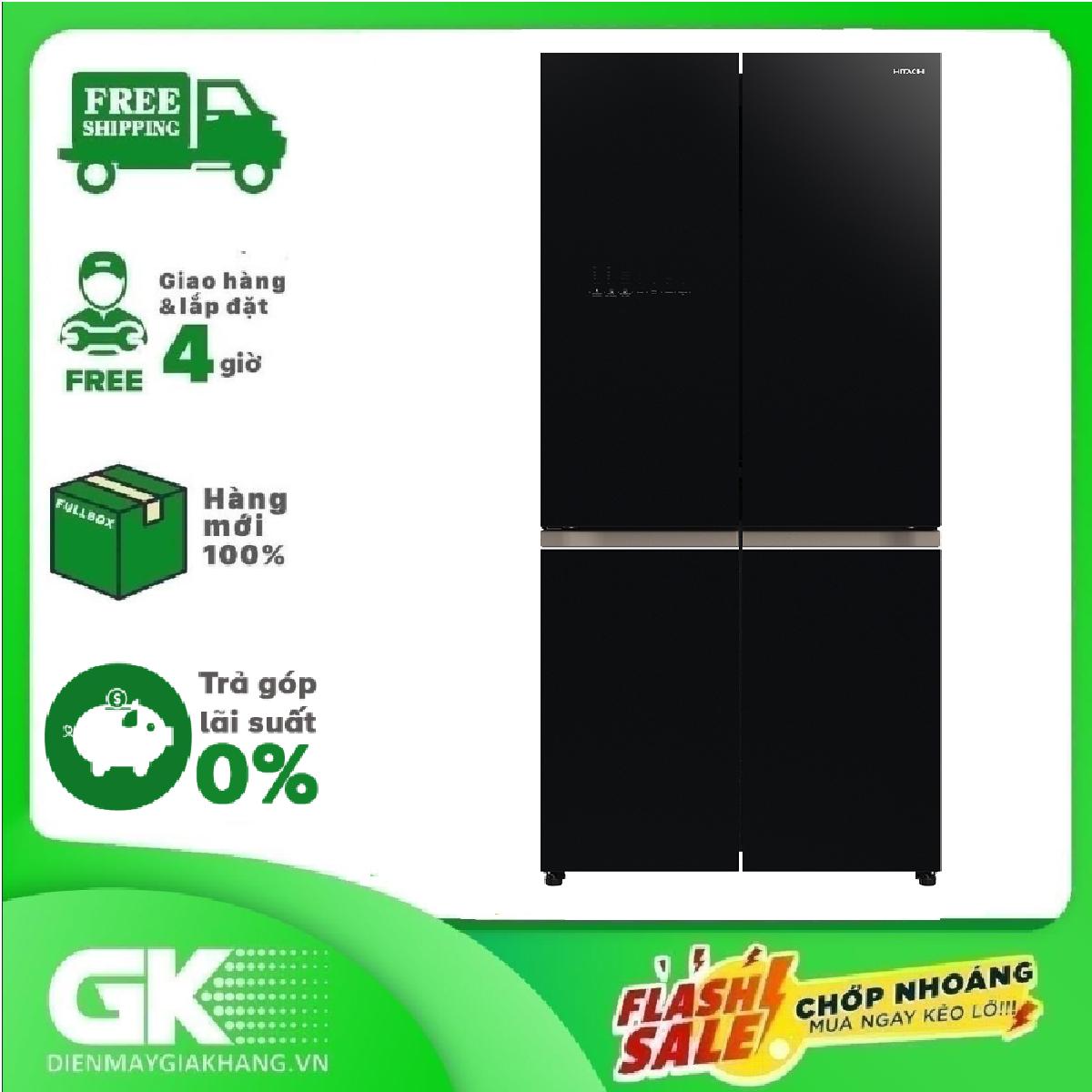 TRẢ GÓP 0% – Tủ lạnh Hitachi Inverter 569 lít R-WB640VGV0 (GBK)
