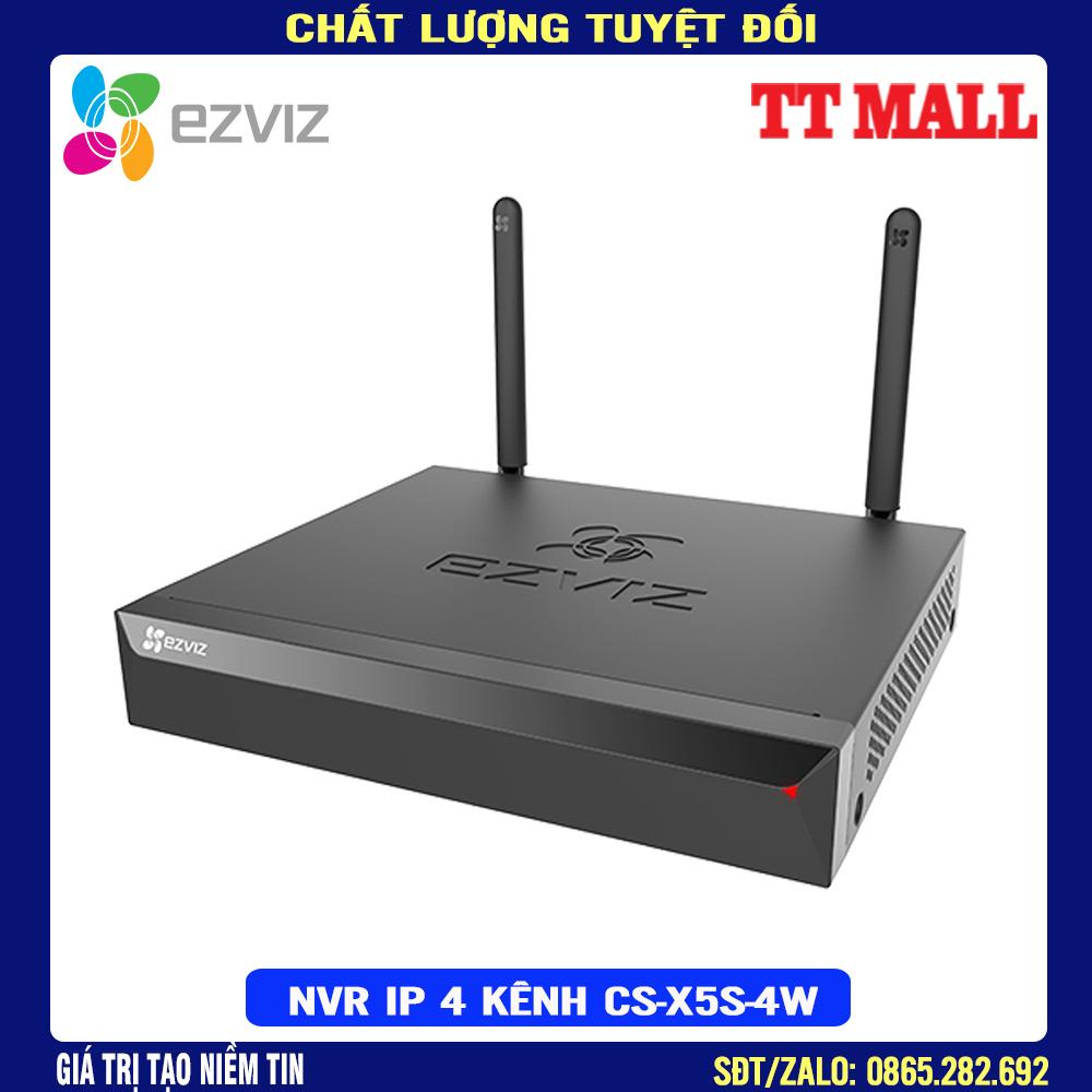 [Nhập ELJAN12 giảm 10%, tối đa 200k, đơn từ 99k]Đầu Ghi Hình NVR IP WiFi 4 Kênh Ezviz CS-X5S-4W HÀNG CHÍNH HÃNG – BẢO HÀNH 24 THÁNG