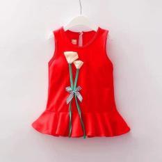 váy bé gái hoa tilip