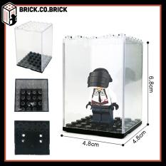 Hộp trưng bày lego và minifigures trong suốt đế đen loại nhỏ nhất đựng 1 mini – Nonlego-Mô hình đồ chơi -Lắp ráp cho bẻ – Hộp mica trưng sản phẩm.