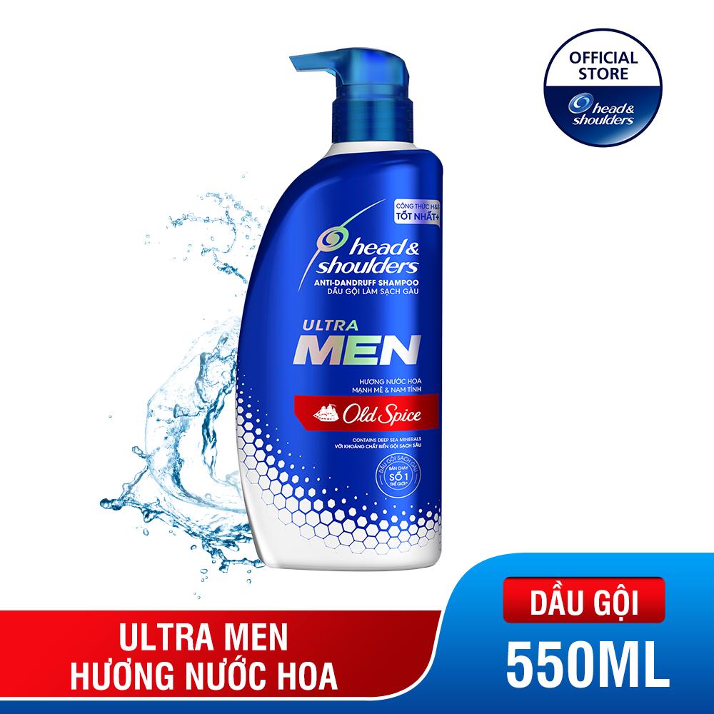 Dầu Gội Head & Shoulders UltraMen Nước Hoa Old Spice chai 550ml