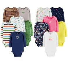 Body chip dài tay cho bé sơ sinh chất liệu cotton cho bé mặc điều hòa (0-14kg)