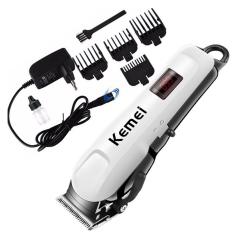 Tông đơ cắt tóc gia đình chuyên nghiệp Kemei 809A, Động cơ mạnh mẽ; lưỡi dao cắt bằng Titanium không gỉ – Bảo hành 6 tháng