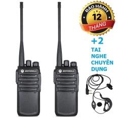 Bộ 2 Máy Bộ đàm Motorola CP838 + 2 Tai Nghe Chuyên Dụng