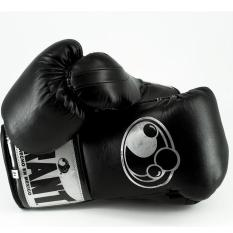 Găng tay boxing GRANT CUSTOM PRO PUNCHER'S GLOVES-CREED 2-SOLID BLACK/PLATINUM 10oz