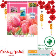 XẢ HÀNG – Lịch tường 2021 -7 tờ Thiên Nhiên Tươi Đẹp (lò xo) 40x63cm