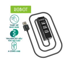Cổng chia USB HUB 4 cổng ROBOT H140 80 dài 80cm đa năng truyền dữ liệu tốc độ cao ổn định l HÀNG CHÍNH HÃNG