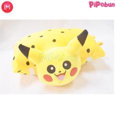 Gối đi xe máy 1 đầu cho bé – hình Pikachu – Màu vàng đốm hãng Pipobun