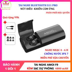 Tai Nghe Bluetooth Amoi F9 Tai Nghe Không Dây F9 Công Nghệ Bluetooth 5.0 Kén Sạc 2000 Mah Kiêm Sạc Dự Phòng Nút Điều Khiển Cảm Ứngchống Thấm Nước Chống Bụi Dùng Cho Mọi Điện Thoại