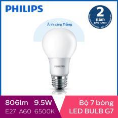 Bộ 7 Bóng đèn Philips LED 9W 6500K E27 230V A60 (Ánh sáng trắng)