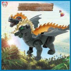 Đồ chơi khủng long 2 đầu có cánh di chuyển bằng pin siêu thú vị, đồ chơi tặng bé giá rẻ