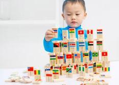 Đồ chơi Domino 100 quân cờ bằng gỗ (4 ngôn ngữ) – Đồ chơi tư duy