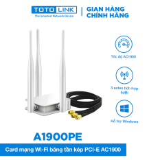 Card mạng Wi-Fi Băng tần kép PCIE AC1900 – A1900PE TOTOLINK