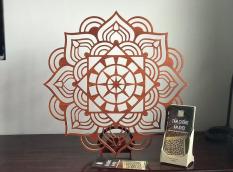 Ốp trang trí ban thờ 41x41cm hoa Sen