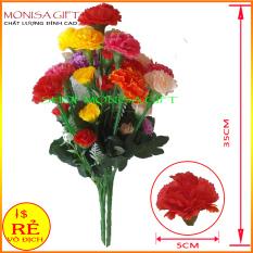 [GIÁ HỦY DIỆT] Hoa Cẩm Chướng Monisa Gift – Hoa Giả Cao Cấp, Hoa Lụa Đẹp, Hoa Vải Trang Trí, Hoa Giả Đẹp