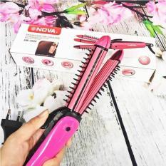 Máy duỗi tóc – máy bấm tóc – máy uốn tóc xù tạo kiểu tóc 3 chức năng: duỗi, uốn, bấm tạo kiểu tóc – 3in1