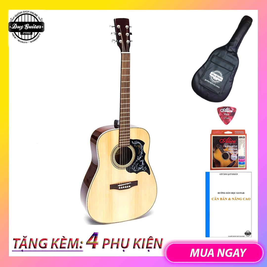 Đàn guitar Acoustic DD200 NAT + Tặng bao da, phụ kiện – Duy Guitar shop đàn guitar giá tốt – Uy tín