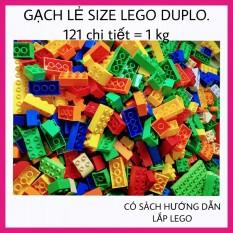 Gạch Lẻ tương thích Lego Duplo – 121 chi tiết, 1 kg – Đồ Chơi Xếp Hình Cho Bé IQ VIỆT
