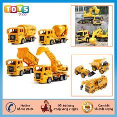 Xe mô hình bộ 4 xe xây dựng cho trẻ