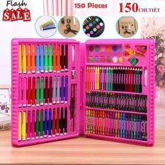 Hộp bút màu 150 chi tiết đặc sắc màu cho bé gái thỏa sức sáng tạo ( màu hồng)