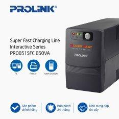 Bộ nguồn cấp điện liên tục PROLiNK 850VA Line tích hợp bộ AVR, sạc siêu nhanh, điện áp đầu vào rộng, tương thích với nhiều loại thiết bị