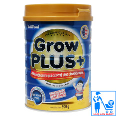 Sữa Bột Nutifood Grow Plus+ Xanh Hộp 900g (Dinh dưỡng hiệu quả giúp trẻ tăng cân khỏe mạnh từ 1~10 tuổi)
